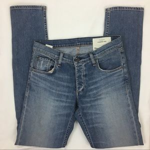 Rag+Bone Distressed Skinny High Rise Denim Jean